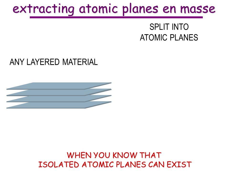 extracting atomic planes en masse