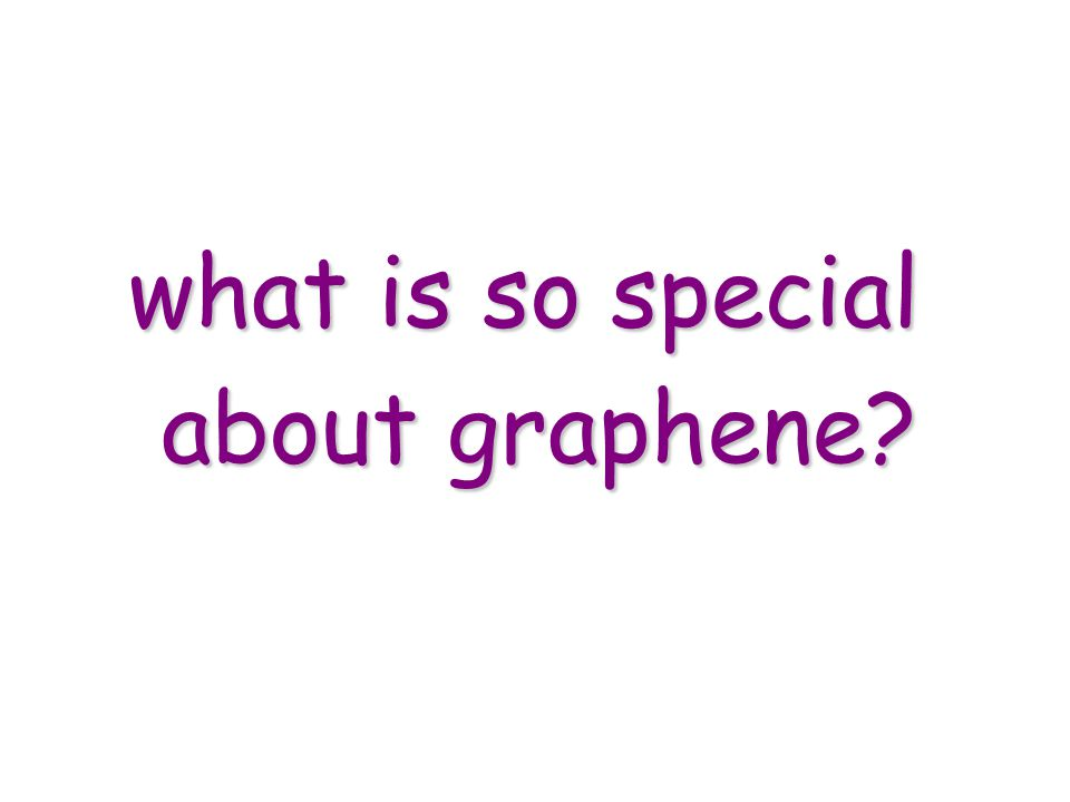 what is so special about graphene