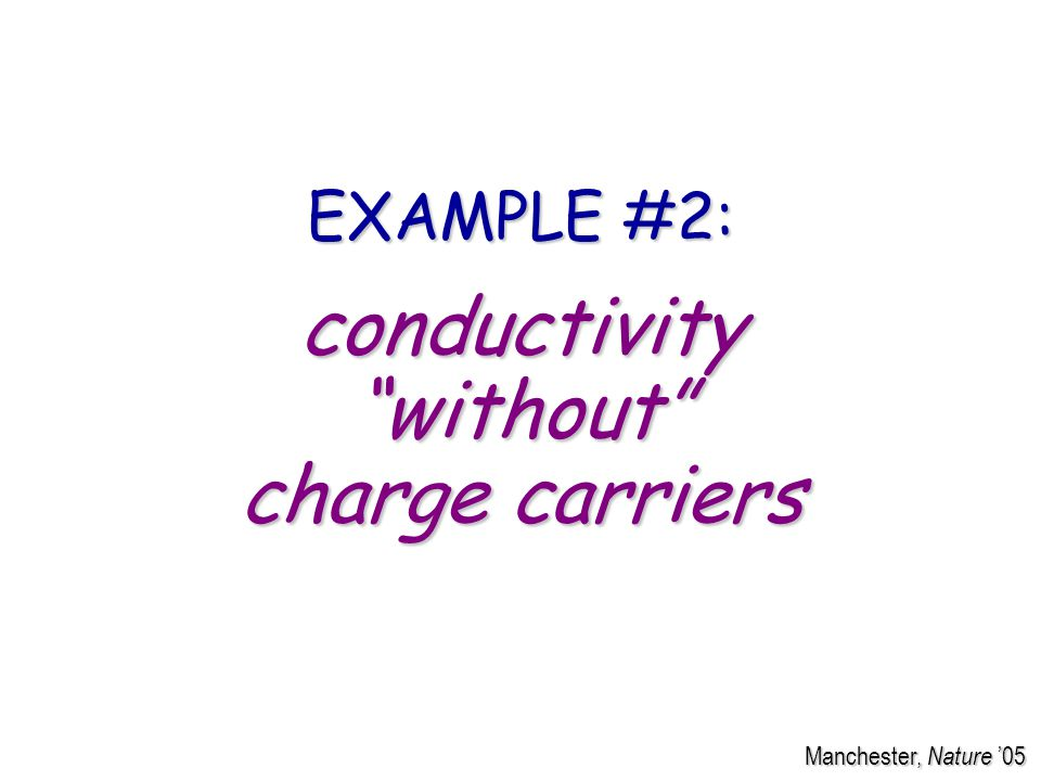 conductivity without charge carriers EXAMPLE #2: