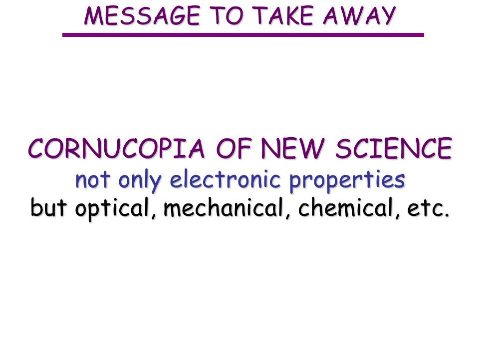 CORNUCOPIA OF NEW SCIENCE
