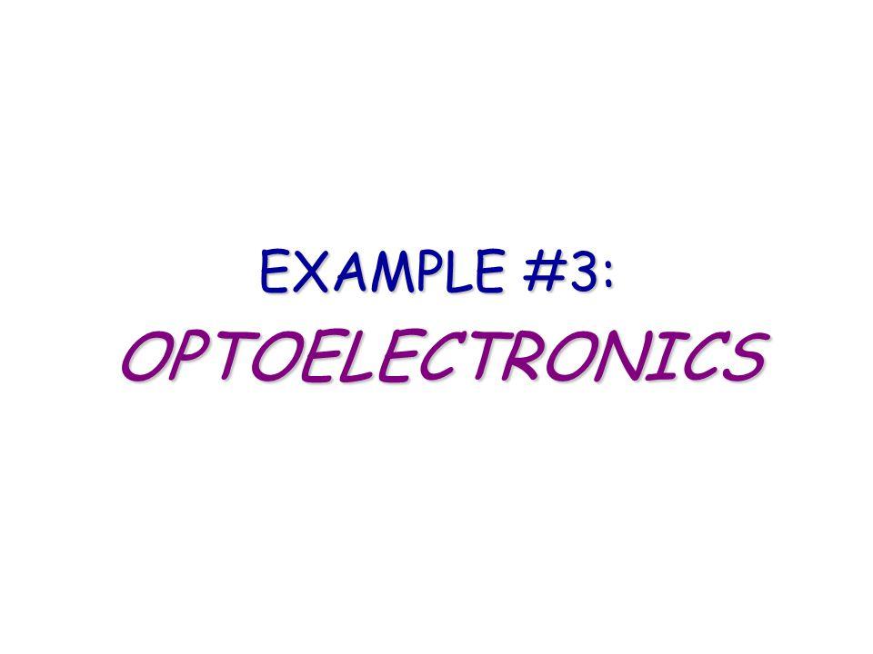 EXAMPLE #3: OPTOELECTRONICS