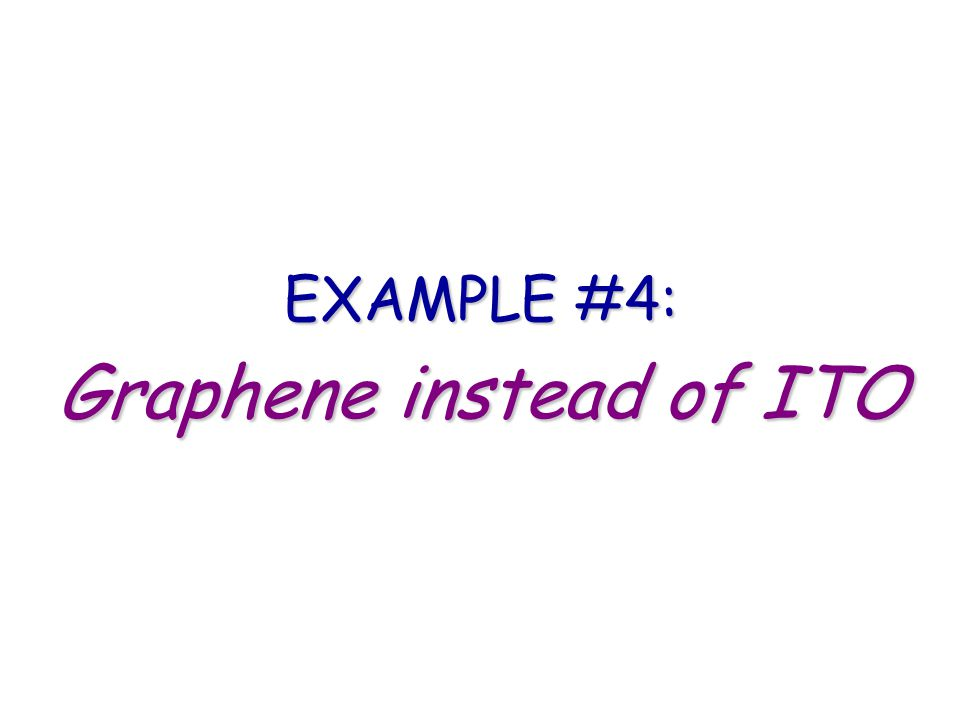Graphene instead of ITO