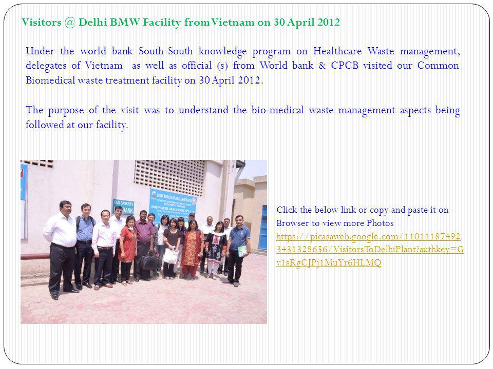 Visitors @ Delhi BMW Facility from Vietnam on 30 April 2012
