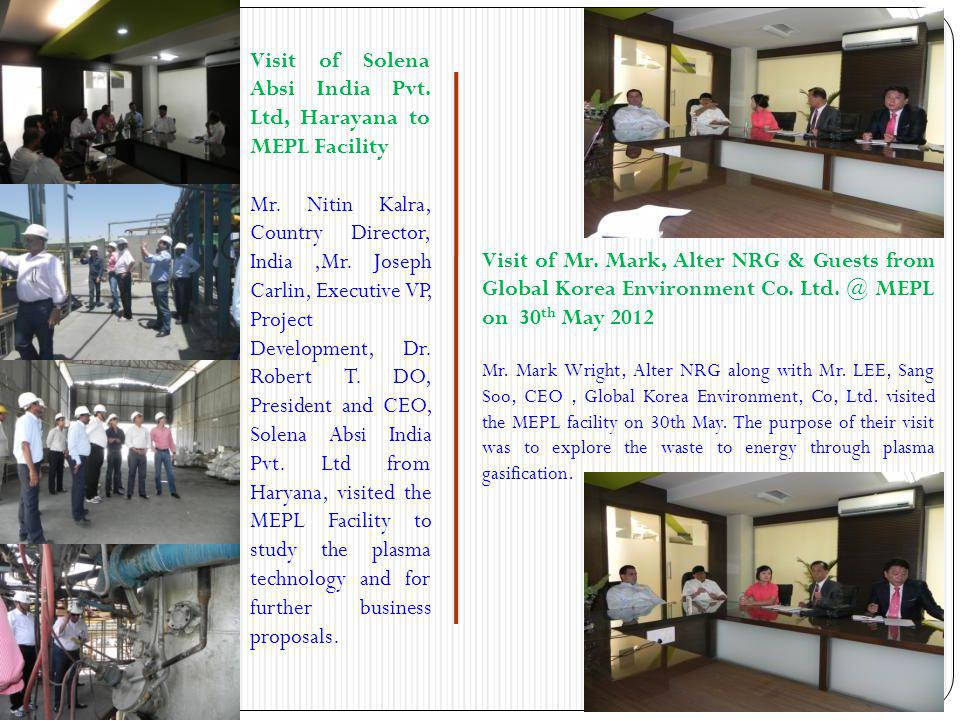 Visit of Solena Absi India Pvt. Ltd, Harayana to MEPL Facility