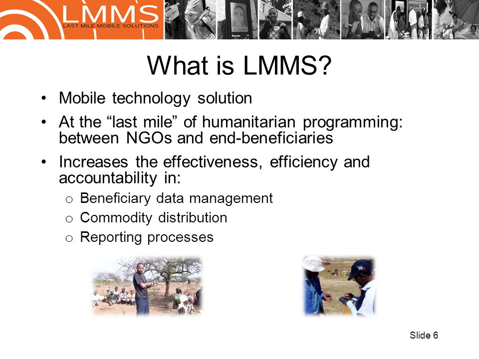 What is LMMS Mobile technology solution