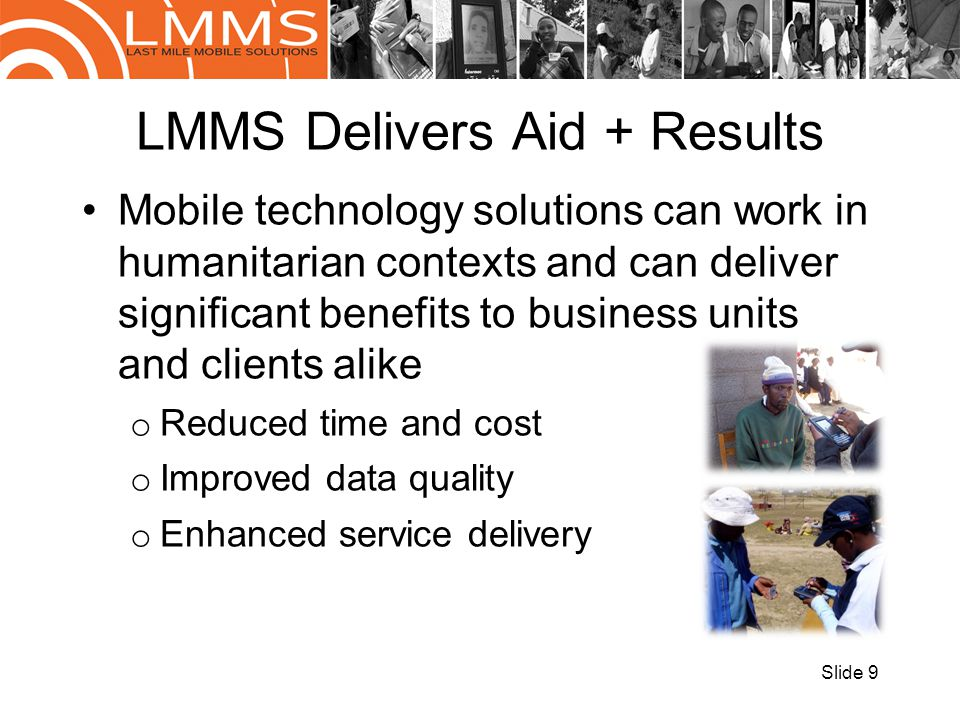 LMMS Delivers Aid + Results