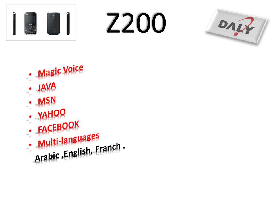 Z200 Magic Voice JAVA MSN YAHOO FACEBOOK Multi-languages