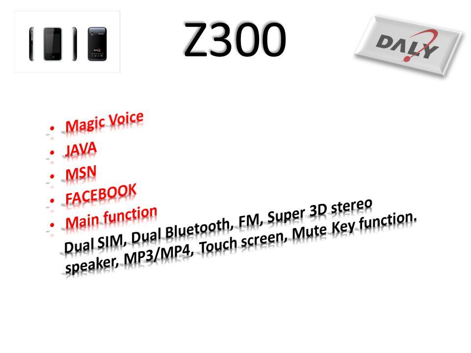 Z300 Magic Voice JAVA MSN FACEBOOK Main function