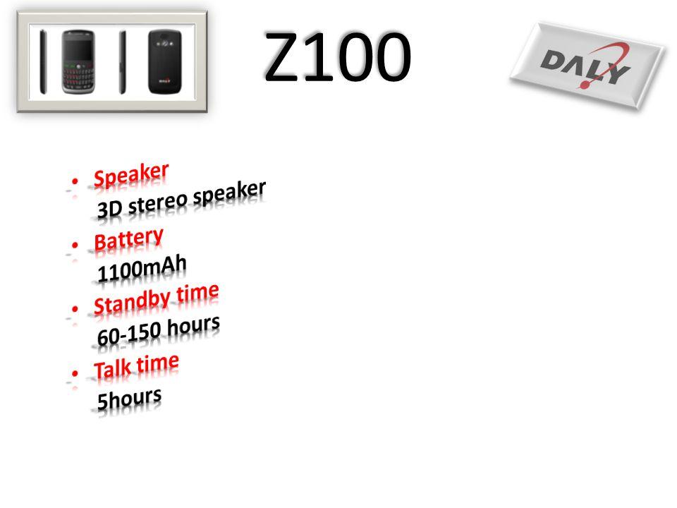 Z100 Speaker 3D stereo speaker Battery 1100mAh Standby time