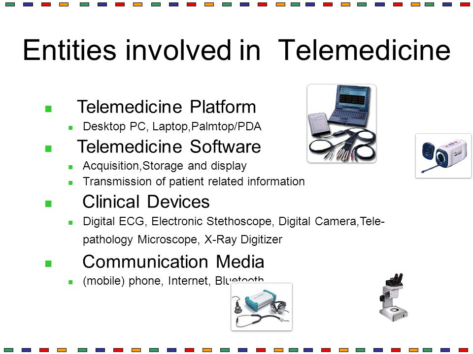 Entities involved in Telemedicine