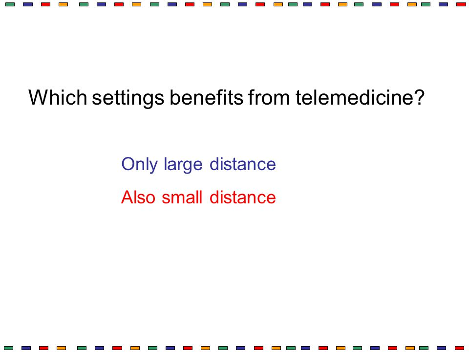 Which settings benefits from telemedicine