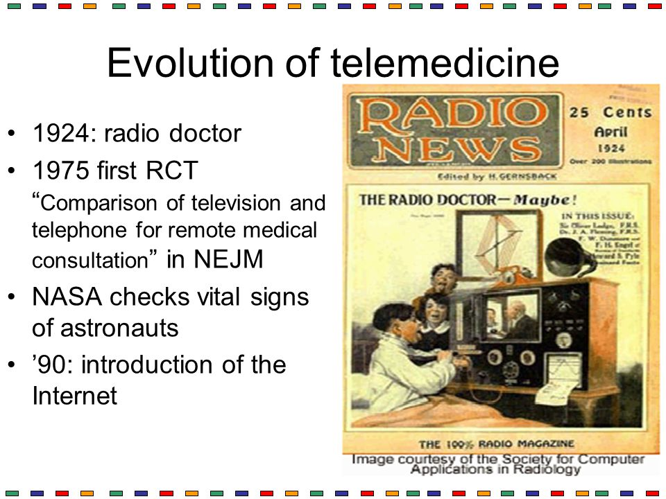 Evolution of telemedicine