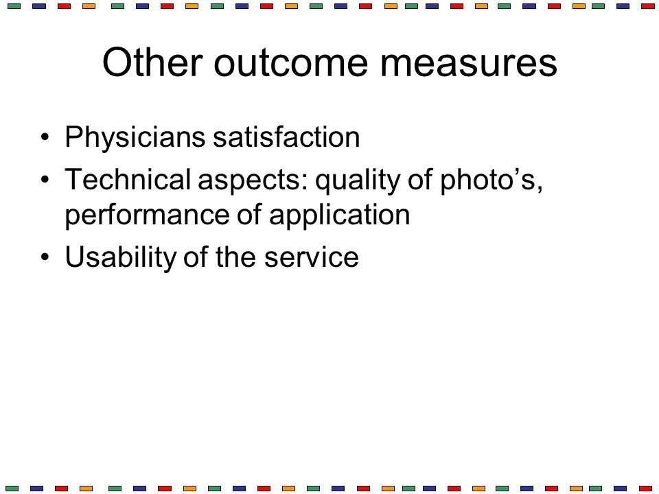 Other outcome measures