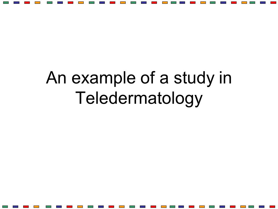 An example of a study in Teledermatology