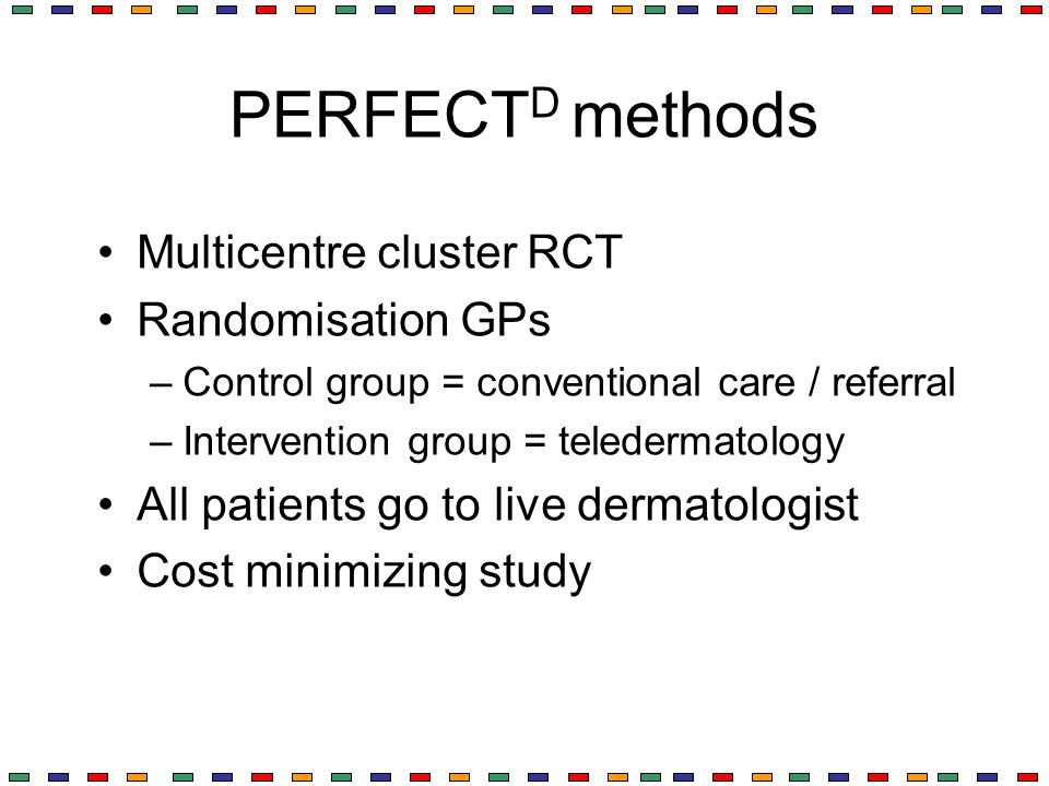 PERFECTD methods Multicentre cluster RCT Randomisation GPs