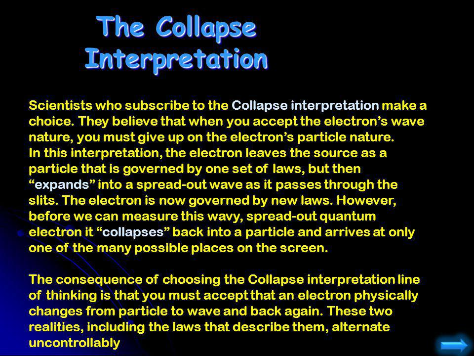 The Collapse Interpretation