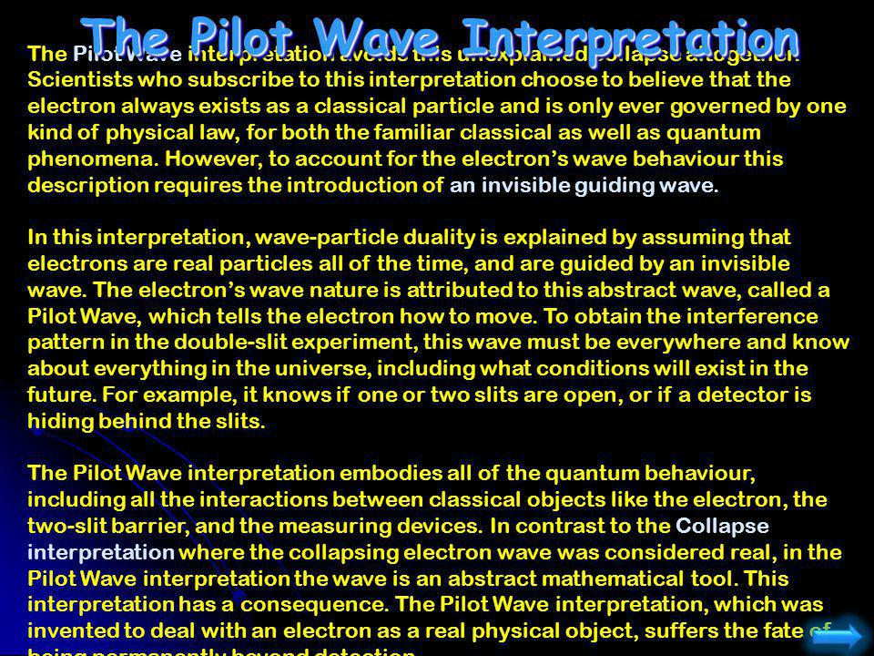 The Pilot Wave Interpretation