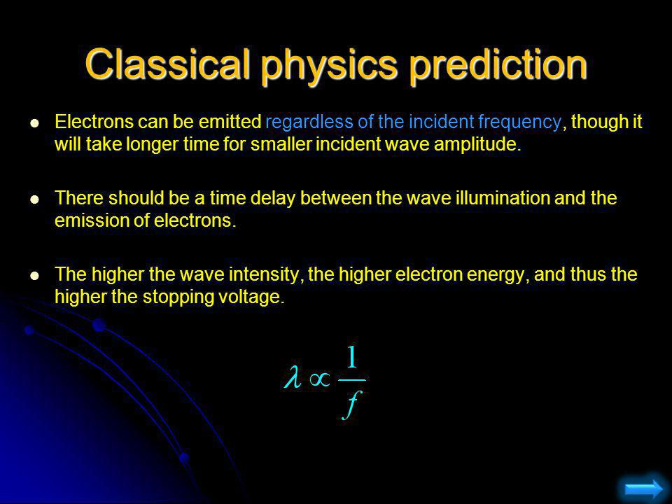 Classical physics prediction