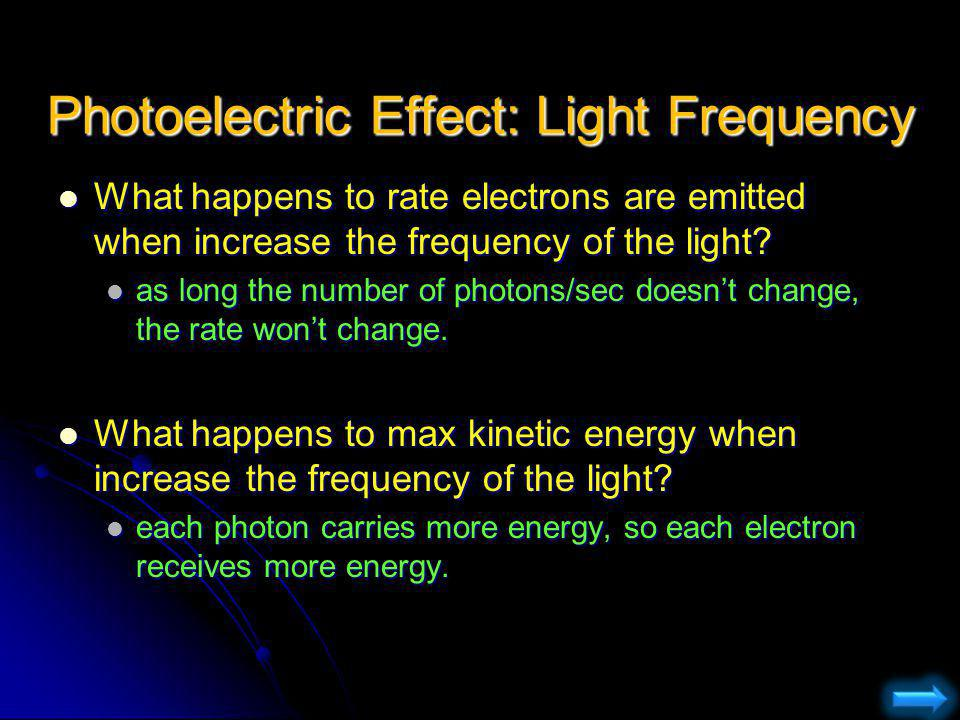 Photoelectric Effect: Light Frequency
