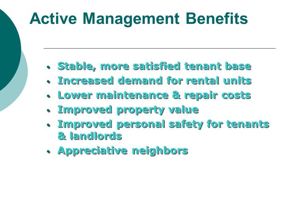 Active Management Benefits