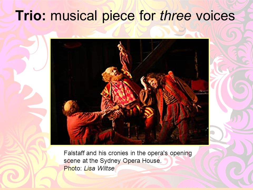 Trio: musical piece for three voices