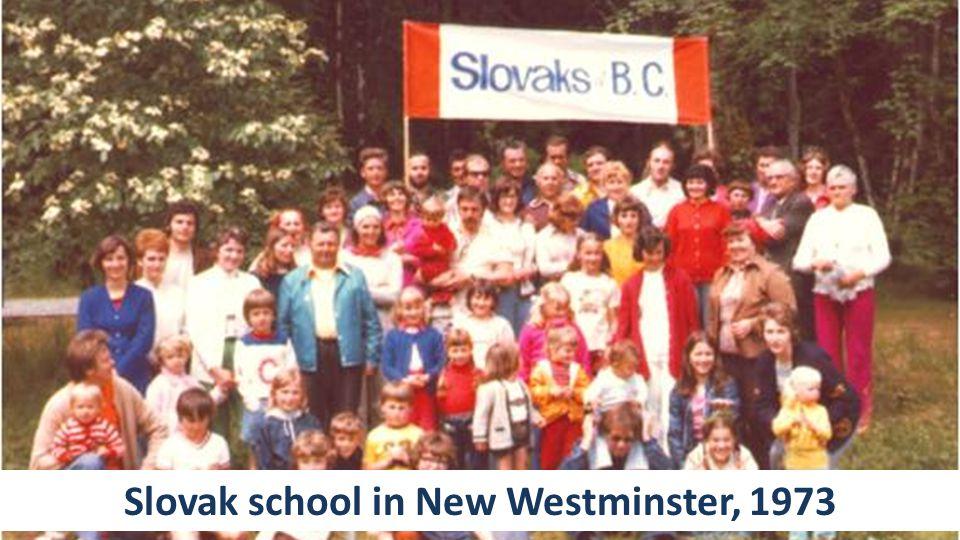 Slovak school in New Westminster, 1973