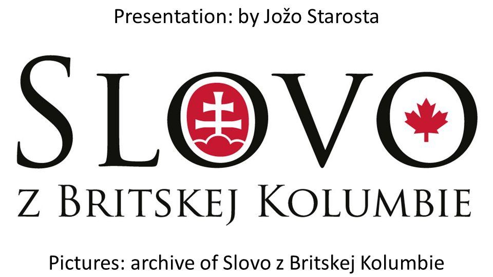 Presentation: by Jožo Starosta
