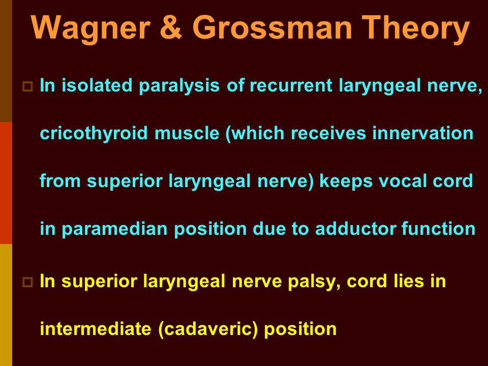 Wagner & Grossman Theory