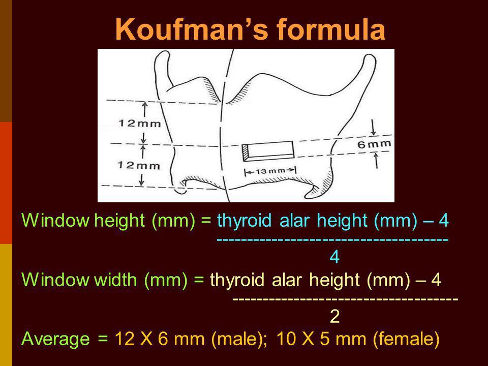Koufman's formula