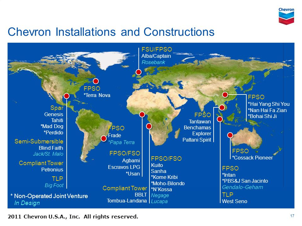 Chevron Installations and Constructions