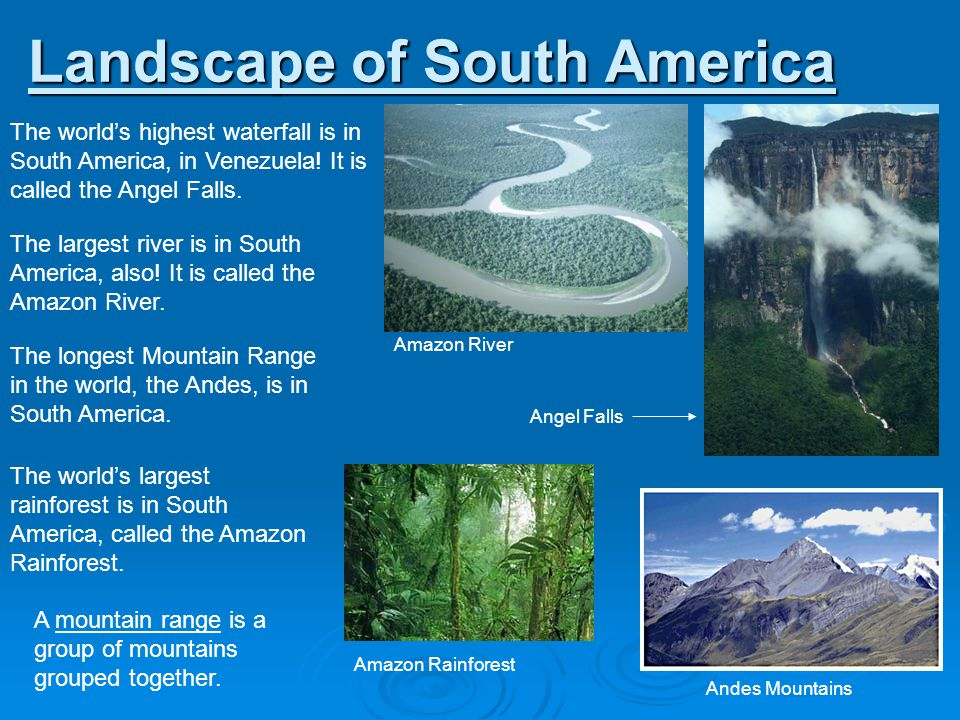 Landscape of South America