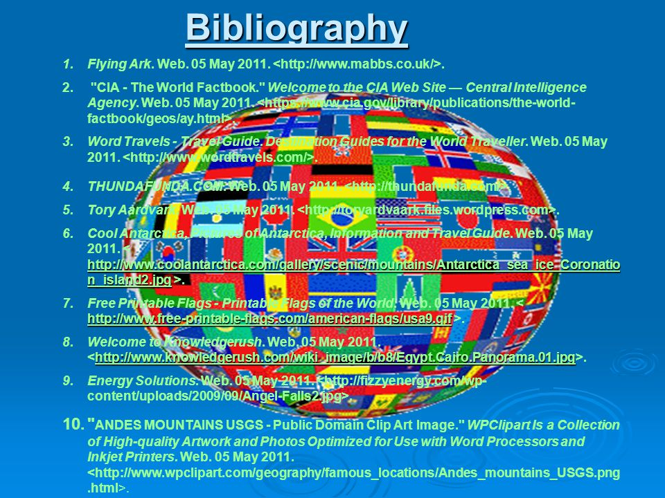 Bibliography Flying Ark. Web. 05 May 2011. <http://www.mabbs.co.uk/>.