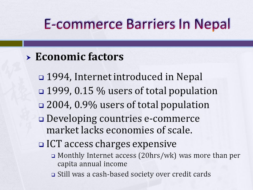 E-commerce Barriers In Nepal
