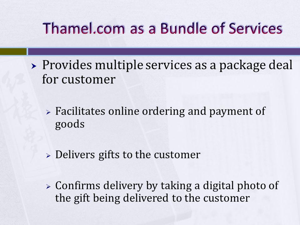 Thamel.com as a Bundle of Services