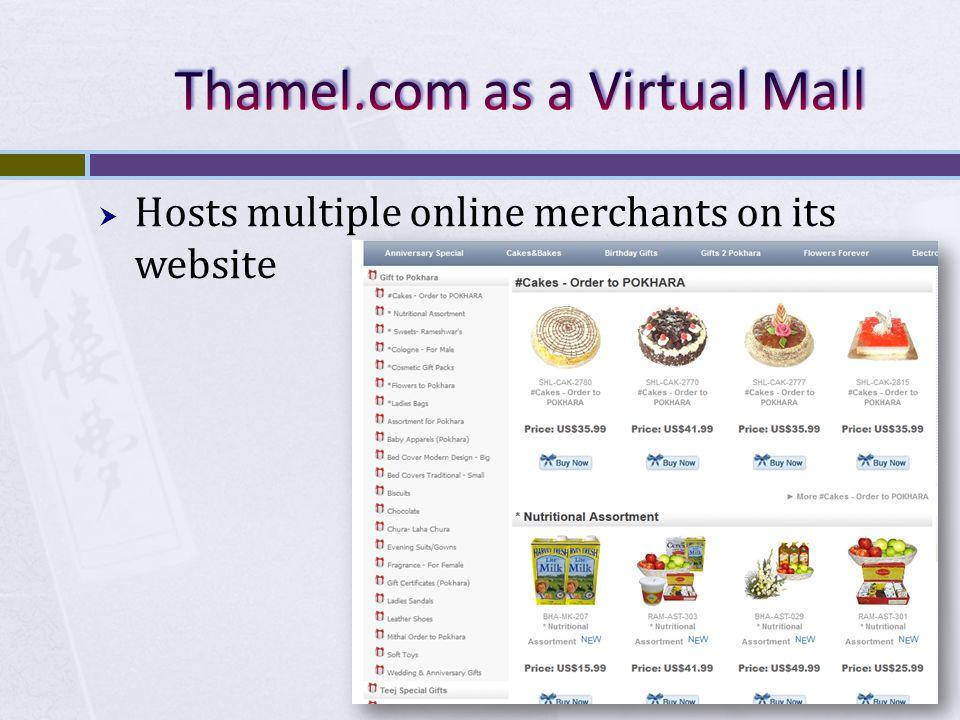 Thamel.com as a Virtual Mall
