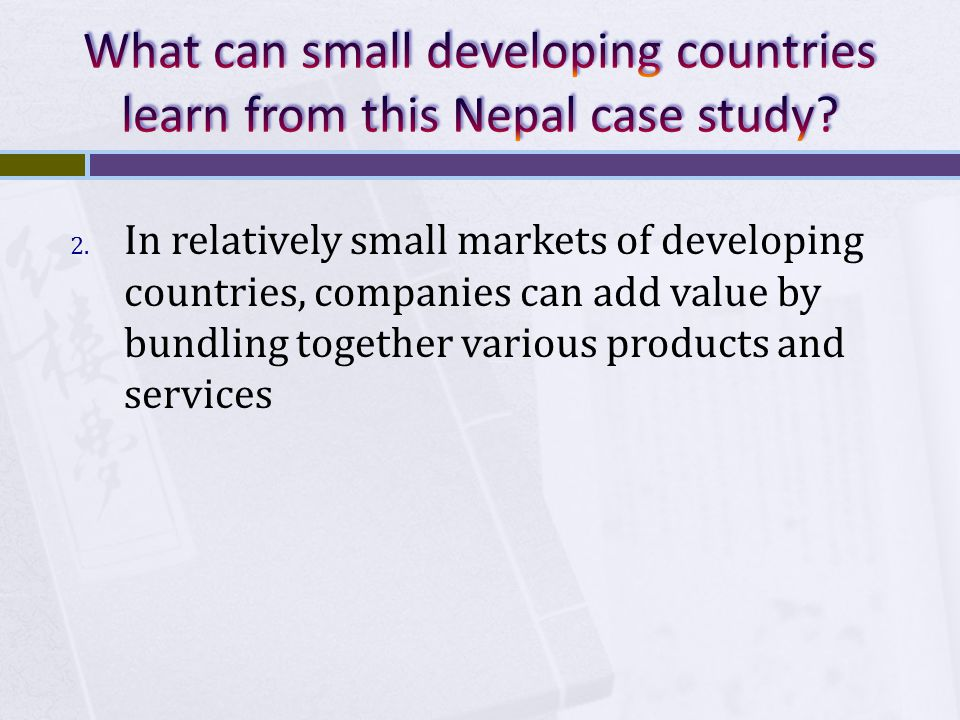 What can small developing countries learn from this Nepal case study