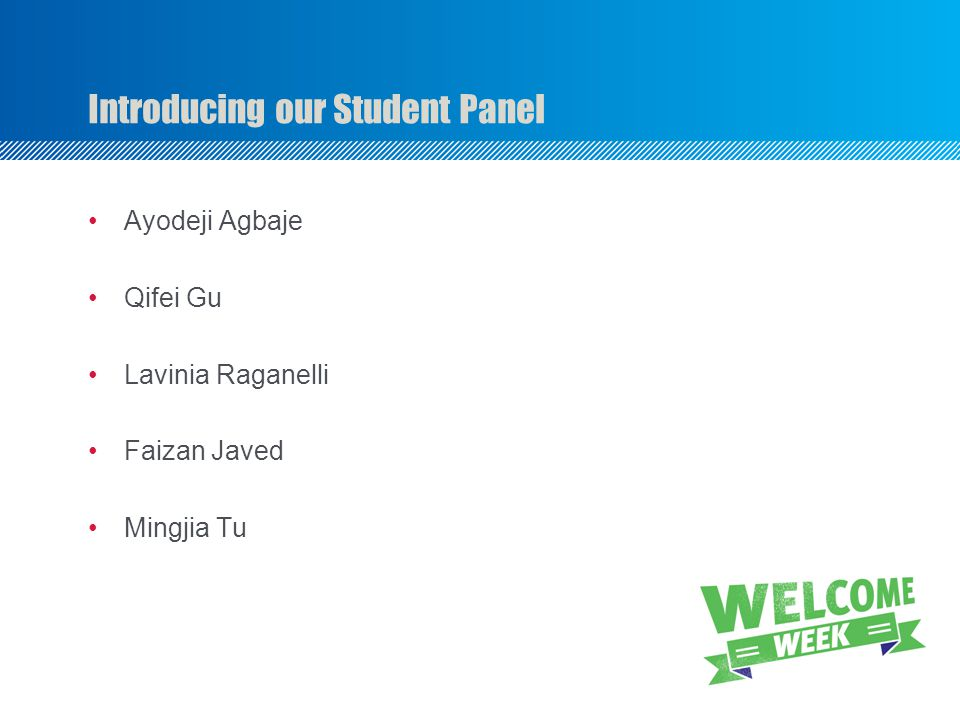 Introducing our Student Panel