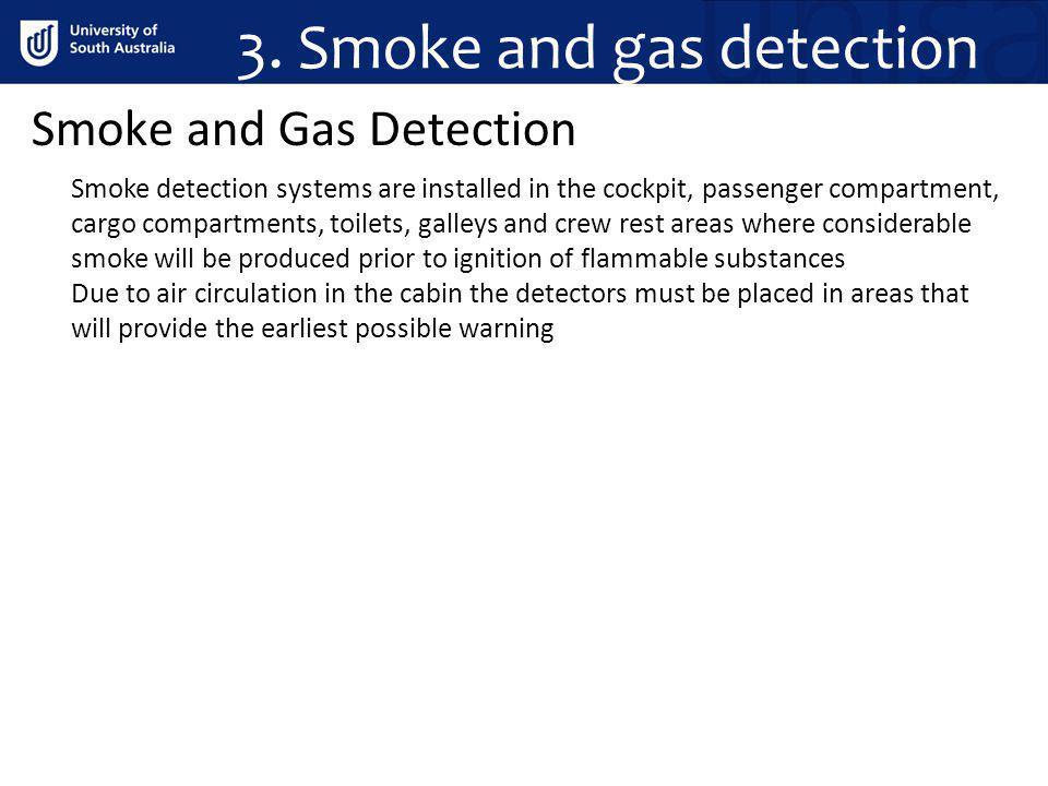 3. Smoke and gas detection