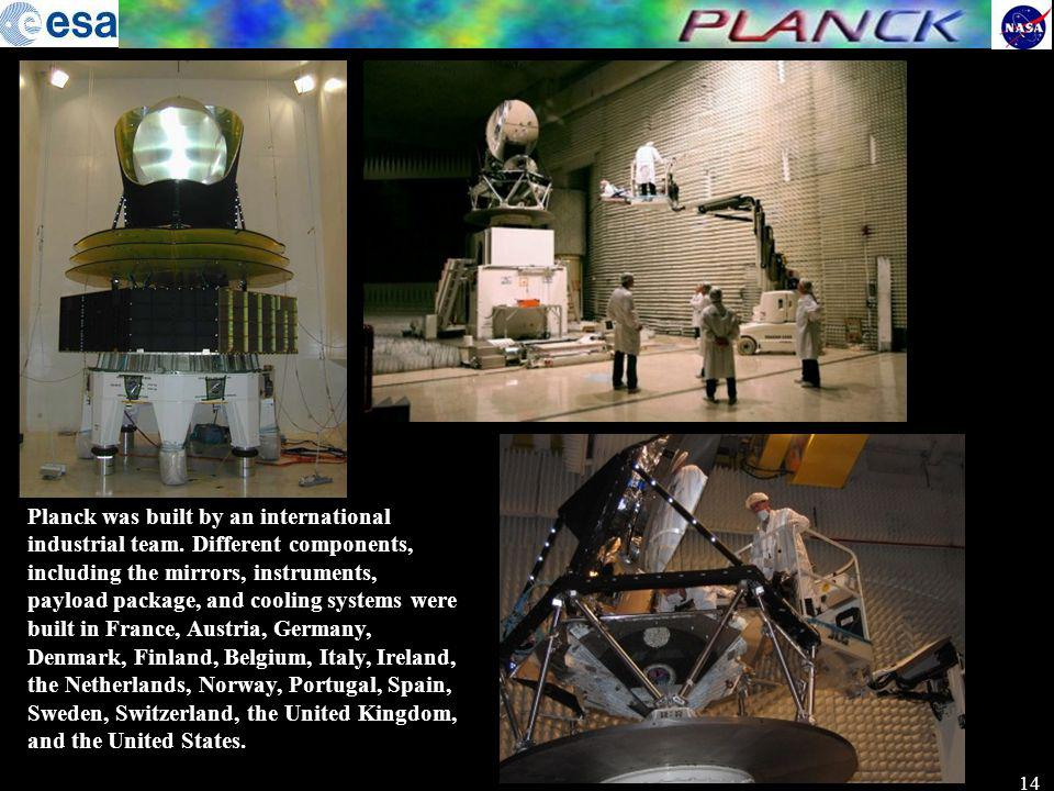Planck was built by an international industrial team