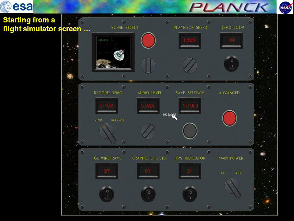 flight simulator screen ...