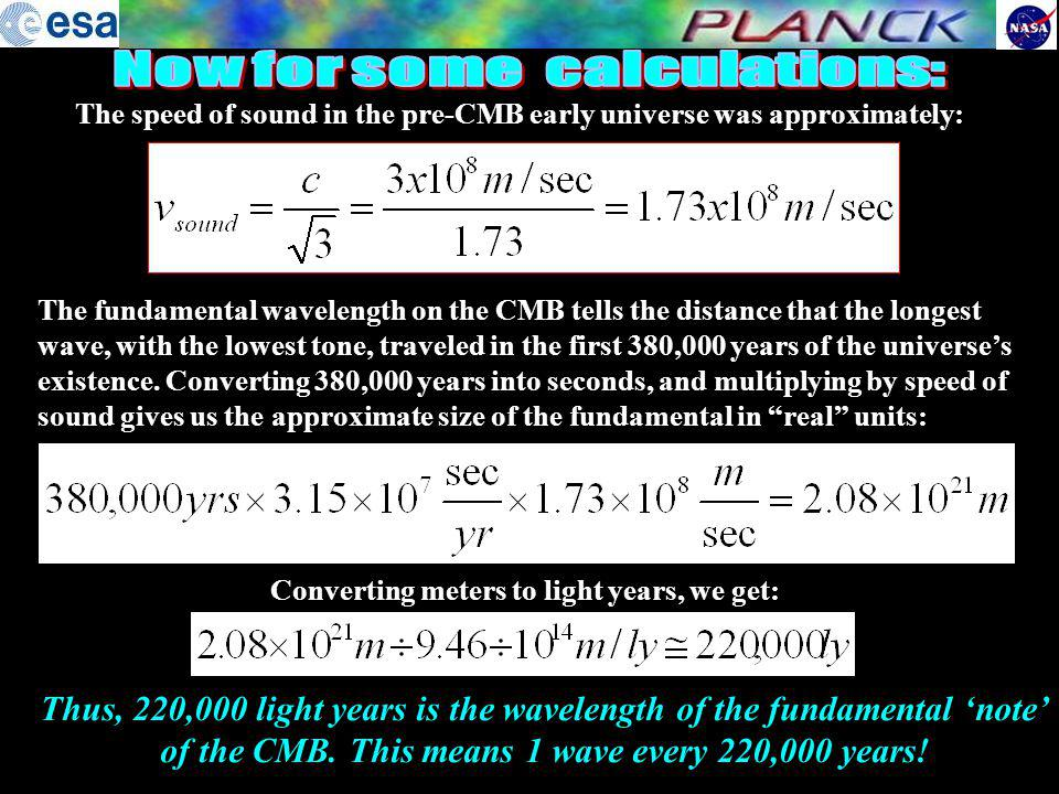 Now for some calculations: Converting meters to light years, we get: