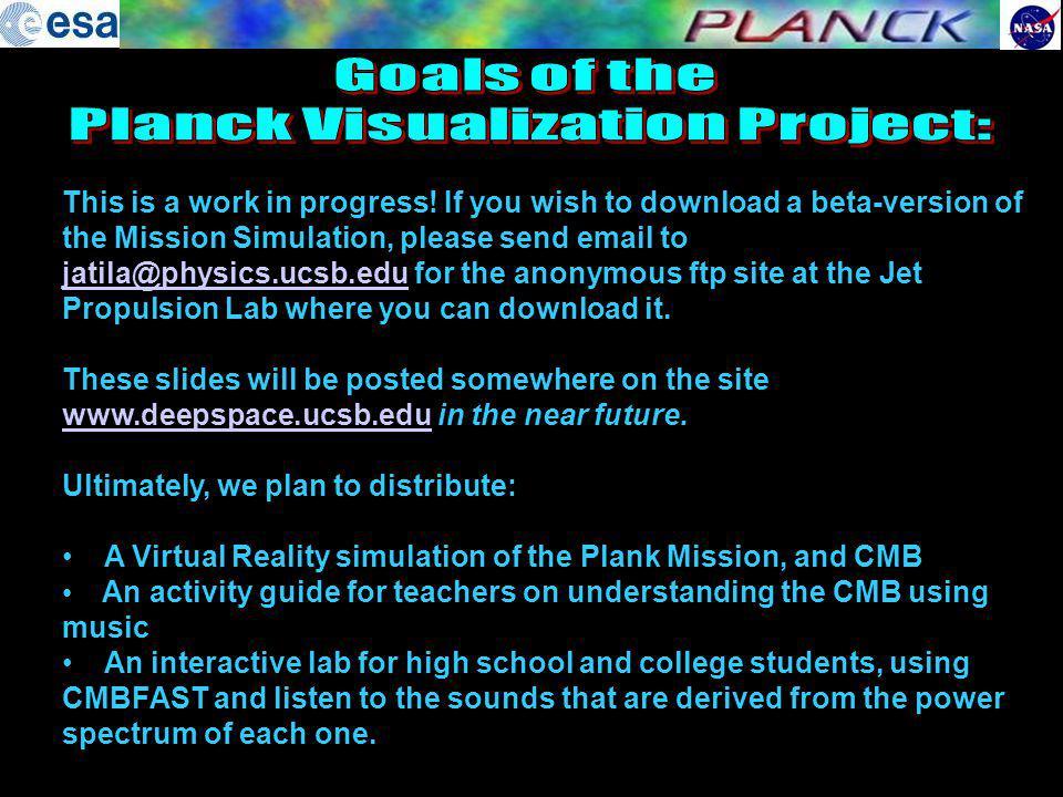Planck Visualization Project: