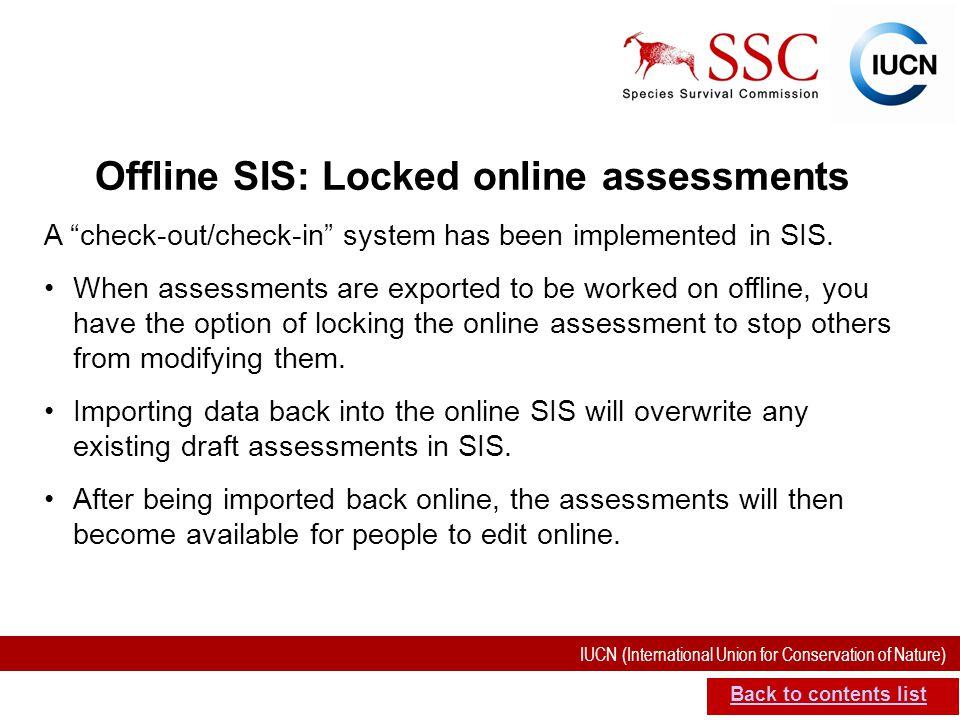 Offline SIS: Locked online assessments