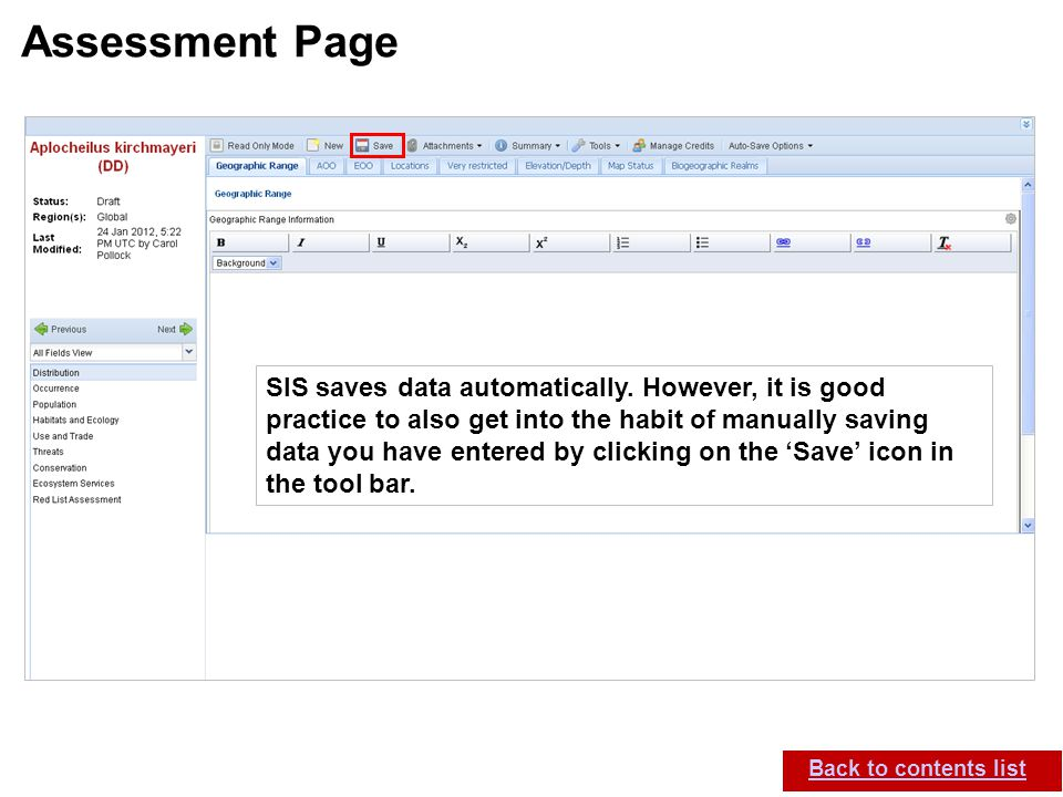 Assessment Page