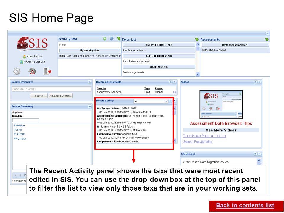 SIS Home Page
