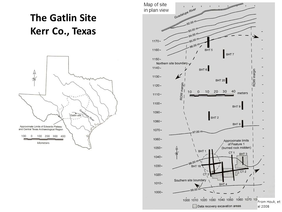 The Gatlin Site Kerr Co., Texas Map of site in plan view
