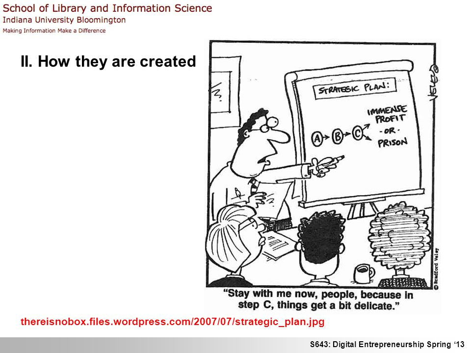 II. How they are created thereisnobox.files.wordpress.com/2007/07/strategic_plan.jpg