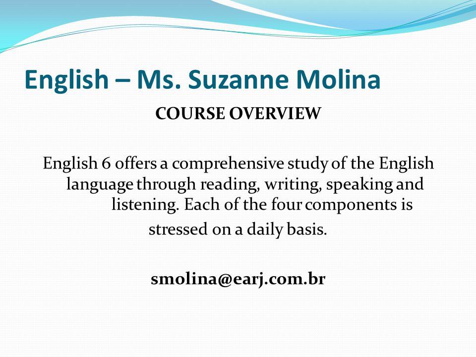 English – Ms. Suzanne Molina