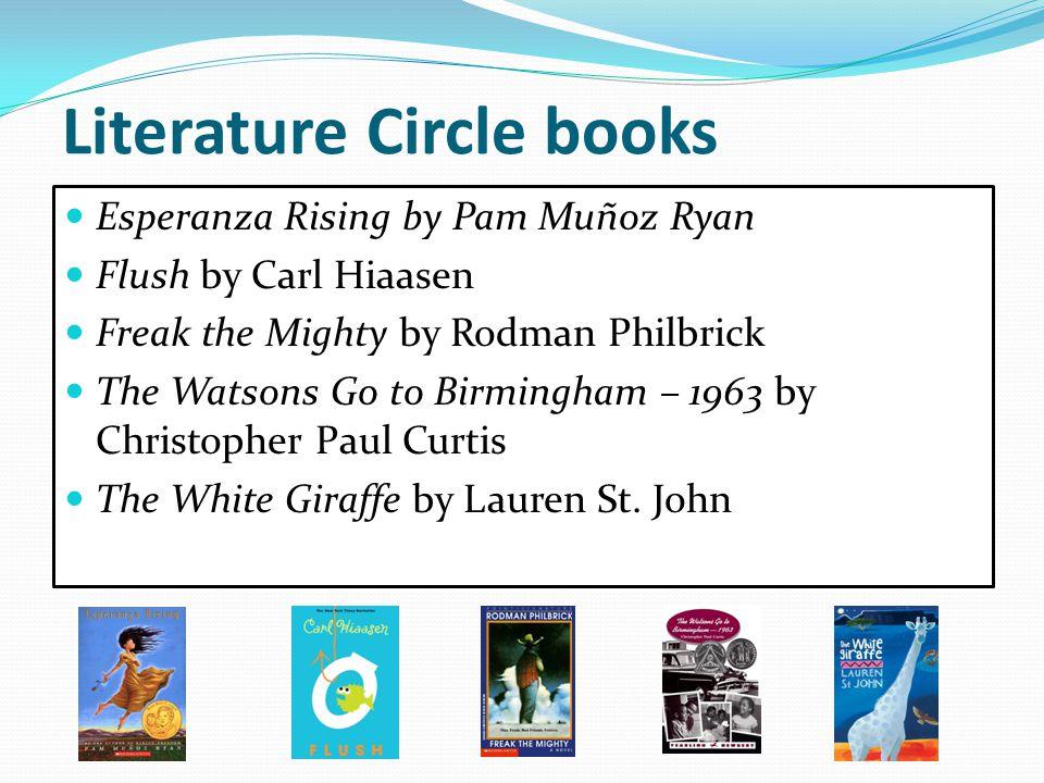 Literature Circle books