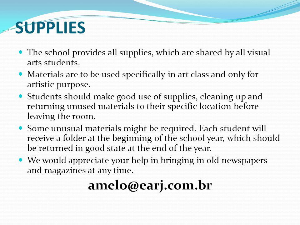 Supplies amelo@earj.com.br